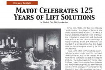 Matot in the News…Elevator World